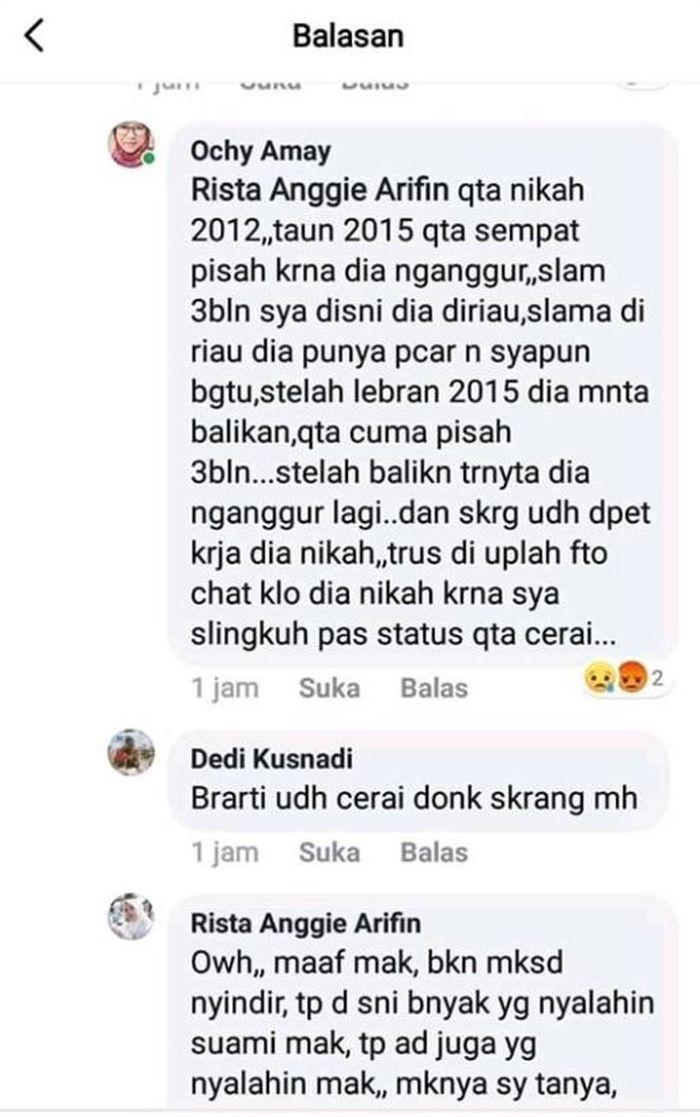 Percakapan netizen dengan Ochy.