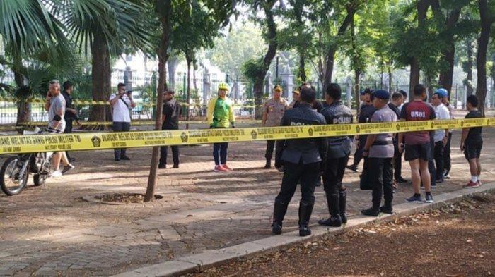 Lokasi ledakan di Monas yang disebabkan granat asap