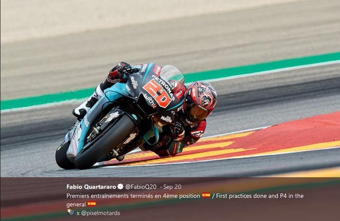 Pembalap Petronas Yamaha, Fabio Quartararo.