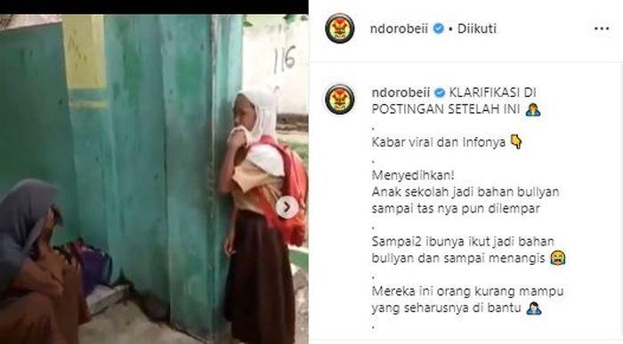 Postingan akun Instagram @ndorobeii