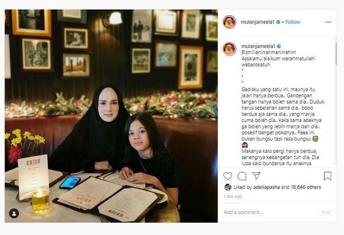 Unggahan Instagram Mulan Jameela