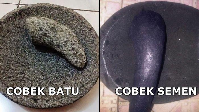 Perbedaan <a href='https://kupang.tribunnews.com/tag/cobek' title='cobek'>cobek</a> batu dan semen