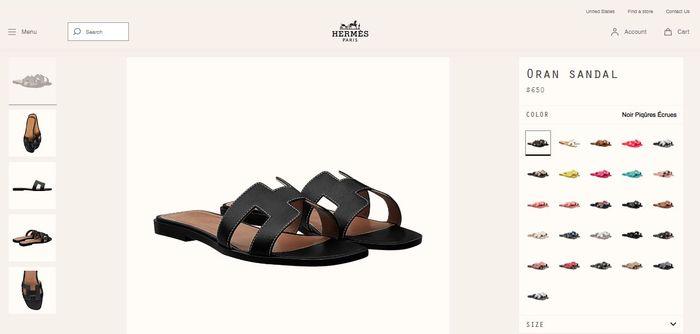 Sandal teplek Hermes
