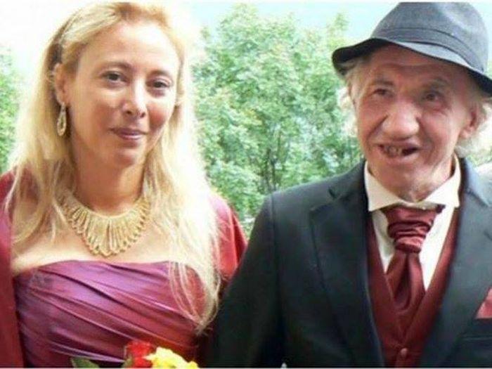 Pasangan Marcel dan Sadrine saat menikah.