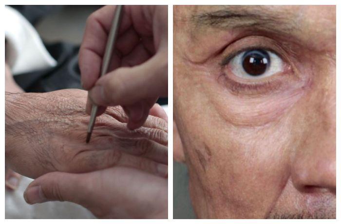 Dari struktur wajah, kelopak mata, hingga tangan, dikerjakan secara detail
