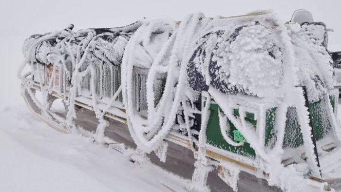 Suhu di Antartika pada bulan Desember bisa mencapai -20 derajat celsius.