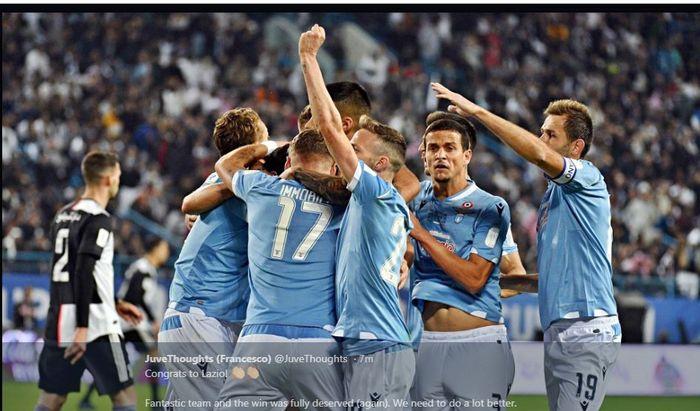 Lazio mengalahkan Juventus dalam Piala Super Italia 2019 di Riyadh, 22 Desember 2019.