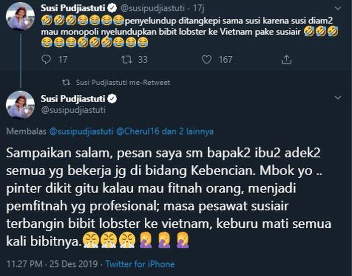 Balasan Susi kepada netizen