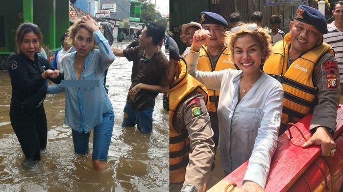 Nikita Mirzani tertangkap kamera tak pakai bra saat kunjungi warga di daerah Cileudug 1