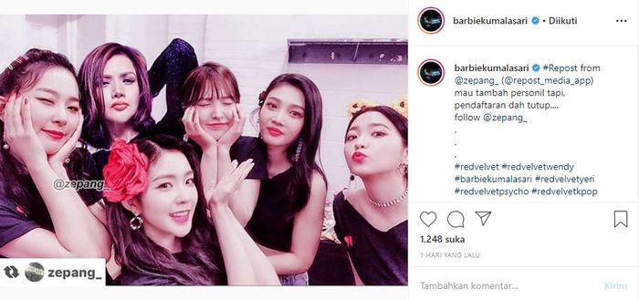 Barbie Kumalasari Pamer 'Foto Bareng' Sampai Ngaku Jadi Anggota Tambahan Girlgroup Red Velvet