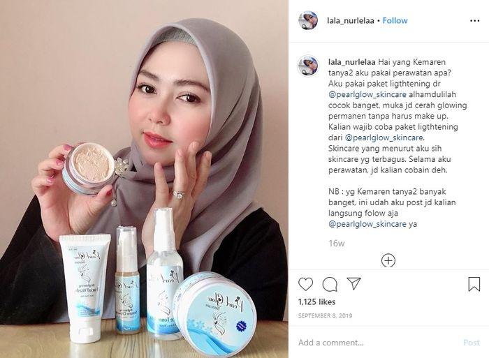 Kakak ipar Syahrini diendorse produk kosmetik