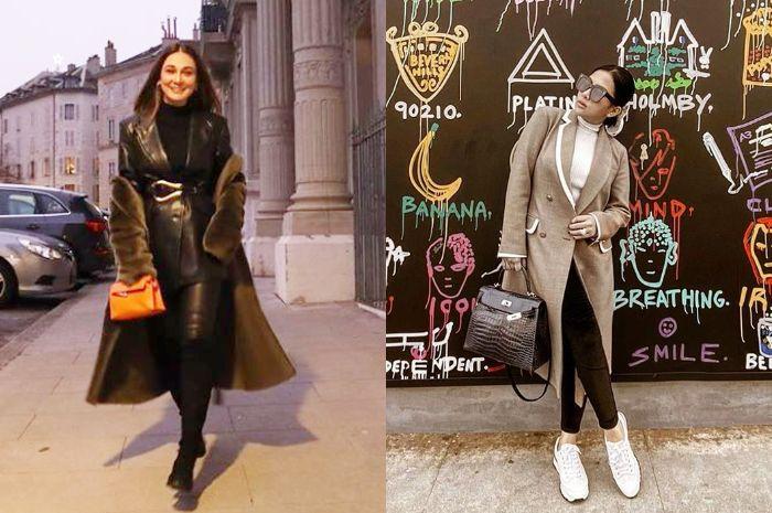 Street style mewah Luna Maya dan Syahrini tenteng tas branded harga ratusan juta rupiah saat liburan ke luar negeri