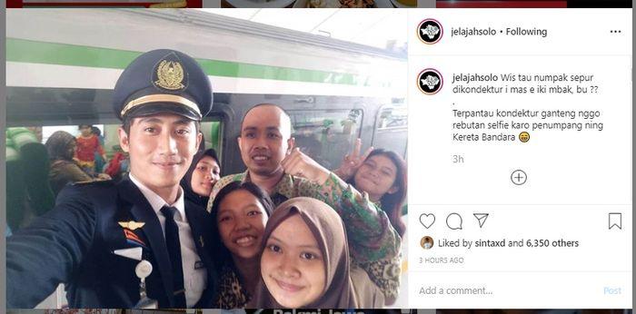 Kondektur kereta api Bandara Solo yang viral di medsos