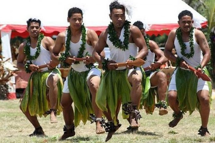 Para pria di <a href='https://style.tribunnews.com/tag/tonga' title='Tonga'>Tonga</a> juga memiliki tubuh yang kekar.