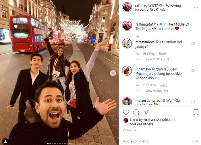 Ryochin mengunggah foto Luna Maya di akun Instagramnya