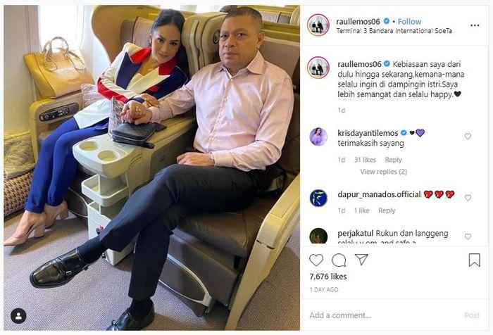 Unggahan Instagram Raul Lemos