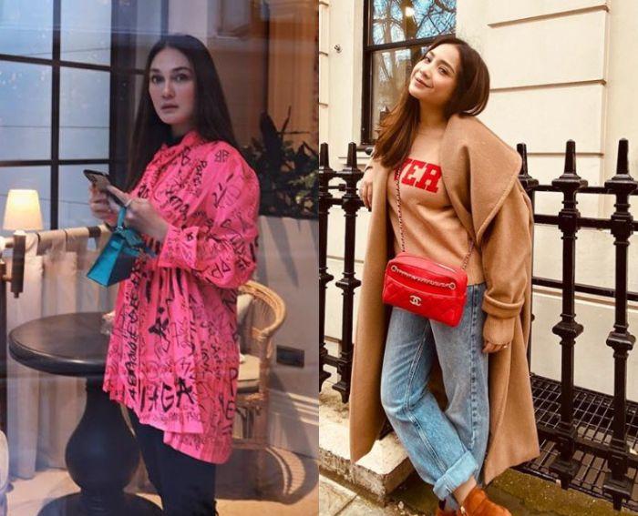 Luna Maya dan istri Raffi Ahmad Nagita Slavina kerap kepergok mengenakan berbagai fashion item mewah dengan harga fantastis