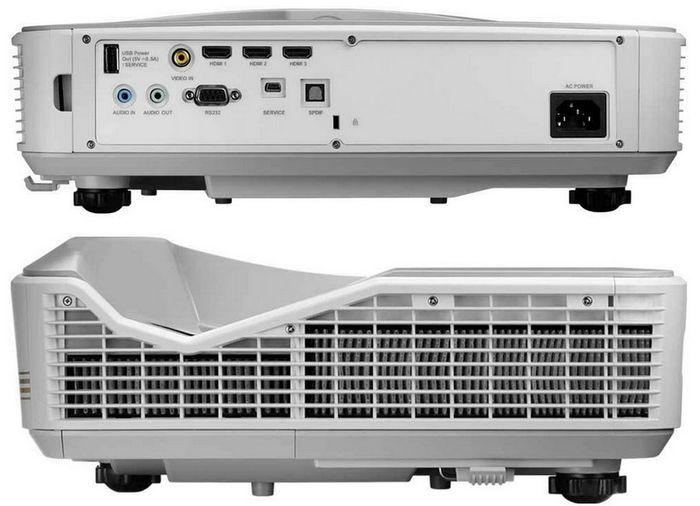 Konektivitas yang tersedia terdiri dari 3 port HDMI 1.4, Video Input, Audio In, Audio Out, dan Digital Out (S/PDIF).