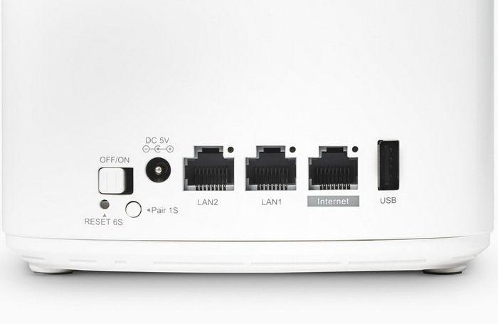 Masing-masing unit PROLiNK Xtend Pro memiliki 3 porta LAN dan 1 porta USB.