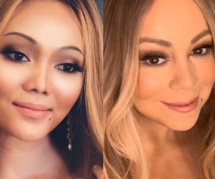 Niat Tiru Makeup Mariah Carey Sampai Bikin Tahi Lalat Palsu, Rina Nose Kebanjiran Komentar Netizen
