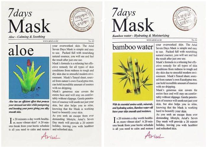 Ariul 7 Days Mask Aloe dan Bamboo Water.