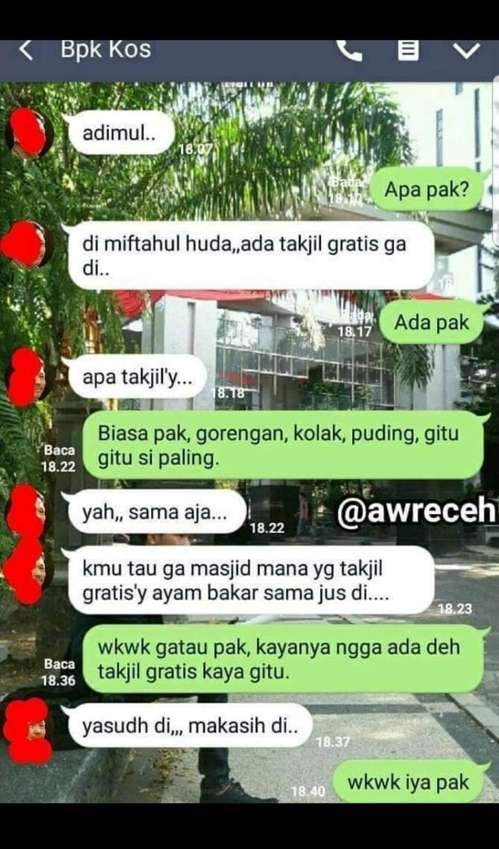 Chat Lucu Bapak Kos Gaul Dan Anak Kos Netizen Jadikan Pak