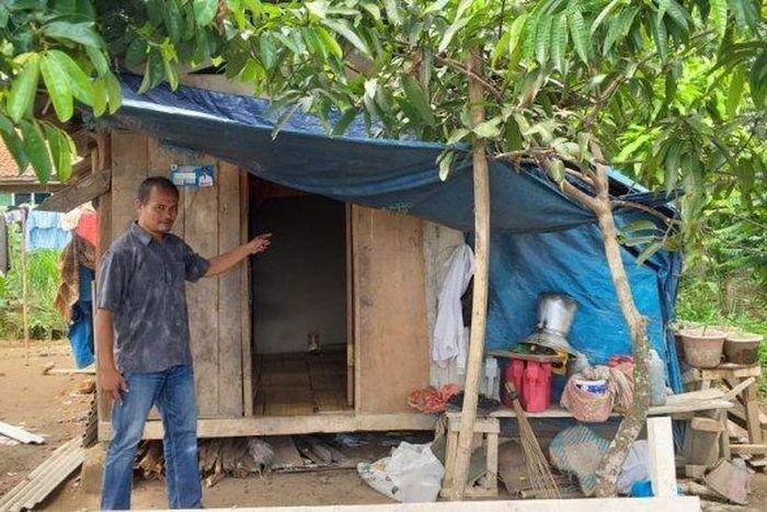 Tempat tinggal keluarga korban penculikan dan pencabulan di Cianjur