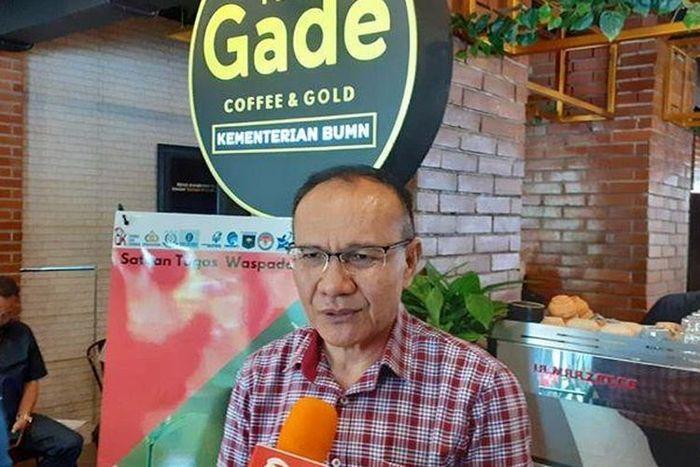 Kepala Satgas Waspada Investasi (SWI) Tongam L. Tobing usai membuka Warung Waspada Investasi di Jakarta, Jumat (1/11/2019).