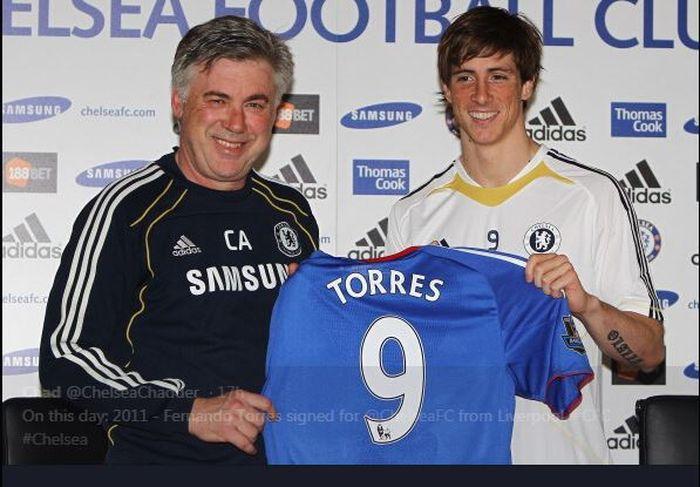 Fernando Torres saat hijrah ke Chelsea.