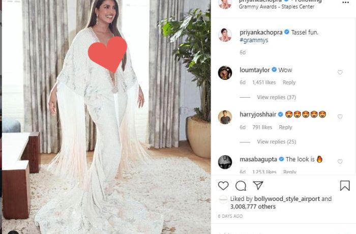 Penampilan terbuka Priyanka Chopra di Grammy Awards 2020
