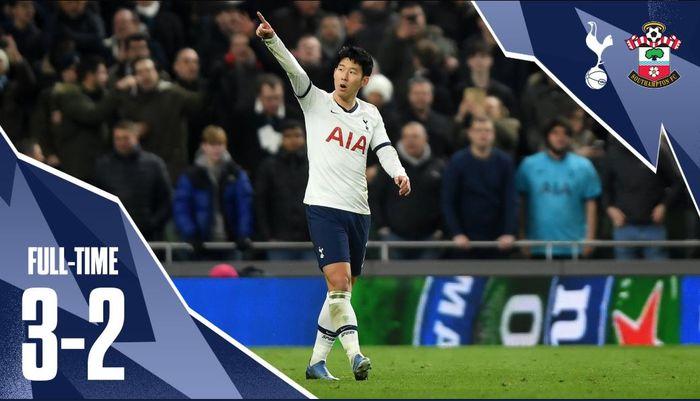 Son Heung-min menentukan kemenangan Tottenham atas Southampton pada laga replay babak IV Piala FA.