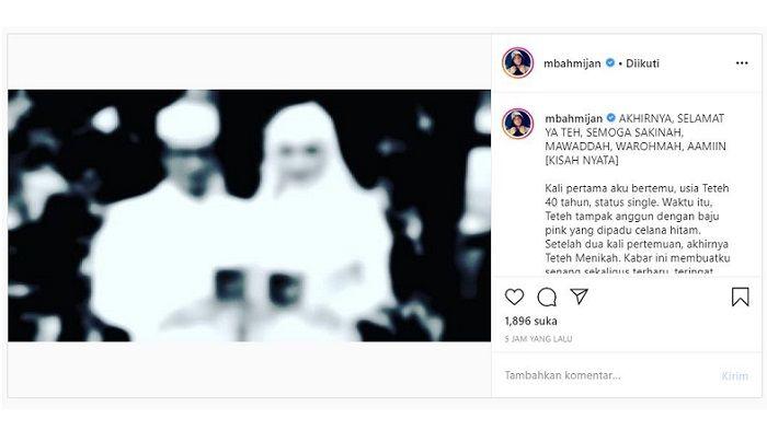 Kisah wanita misterius yang dibagikan Mbah Mijan di Instagramnya