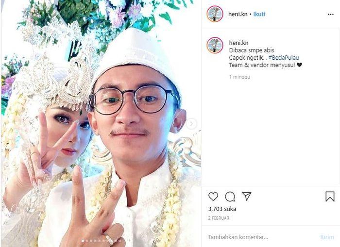 Pasangan pengantin yang viral menikah usai kenalan 24 jam di Instagram