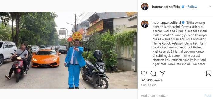 Hotman Paris sindir tingkah laku mantan suami Nikita Mirzani yang sering maki-maki di media sosial