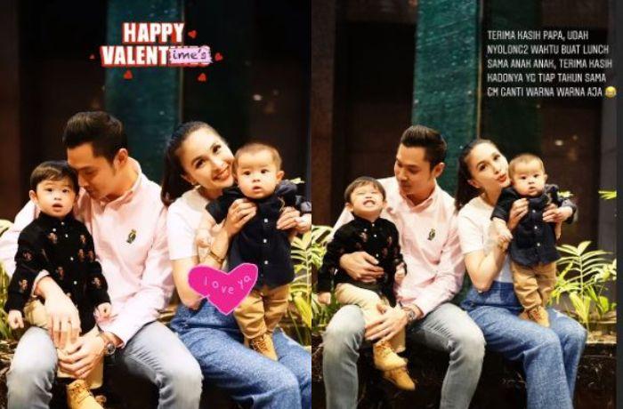Sandra Dewi dapat kado Valentine