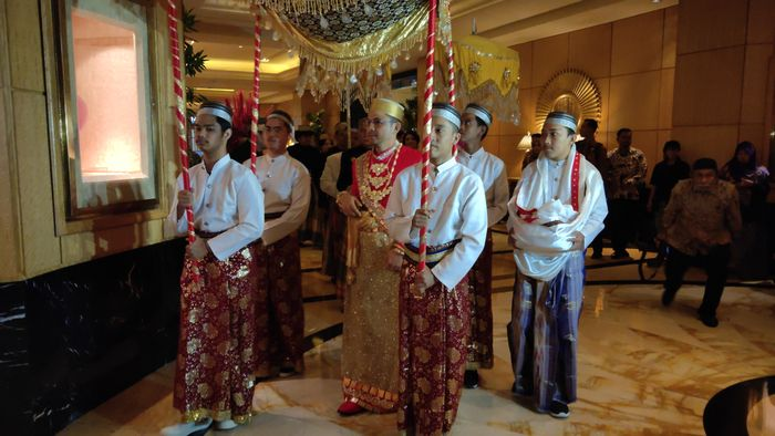 Pernikahan Danny Rukmana dan Raiyah Chitra Caesaria di Hotel Mulia, Senayan Jakarta Pusat pada Sabtu (15/2/2020).