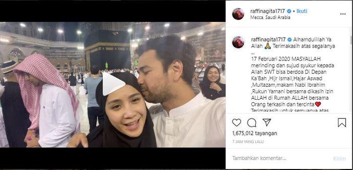 unggahan Raffi dan Nagita ketika rayakan ulang tahun di Mekah.