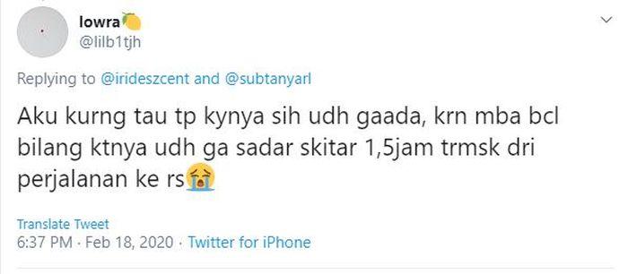 Bagikan Kronologi Ashraf Sinclair di IGD, Pengguna Twitter: BCL Minta Tolong Suaminya Ga Sadar