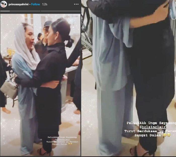 Penampilan Syahrini saat tahlilan almarhum Ashraf Sinclair, suami Bunga Citra Lestari di rumah duka yang banjir kritikan dari netizen