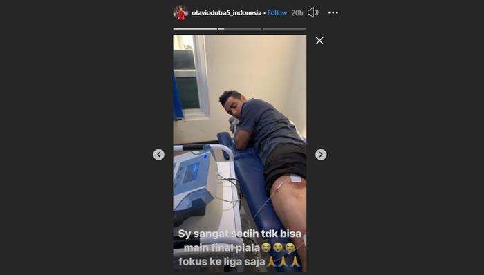 Unggahan Instagram story pada akun pribadi Otavio Dutra.