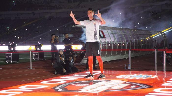 Otavio Dutra dalam peluncuran tim Persija Jakarta menjelang Liga 1 2020, Minggu (23/2/2020) di Stadion Utama Gelora Bung Karno, Jakarta.