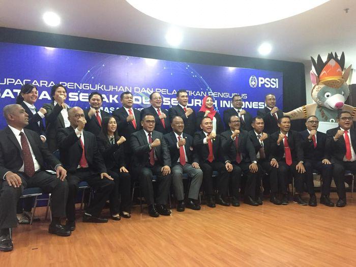 Jajaran pengurus PSSI periode 2019-2023.