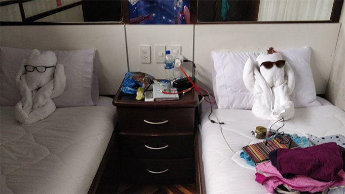 Handuk Hotel Berbentuk Unik