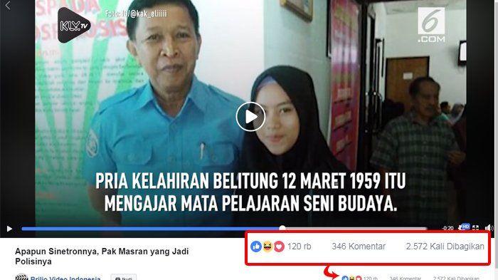 Potongan video Pak Masran yang viral.