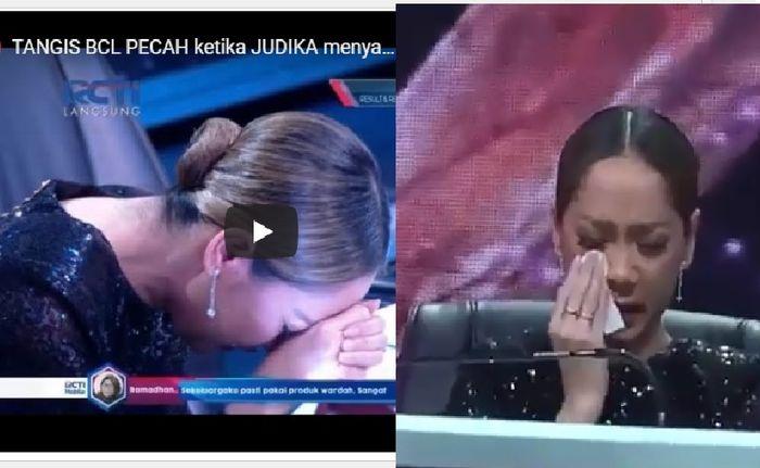 Pecah tangis BCL dengar lagu Tak Mungkin Bersama dari Judika di panggung final Indonesian Idol 2020