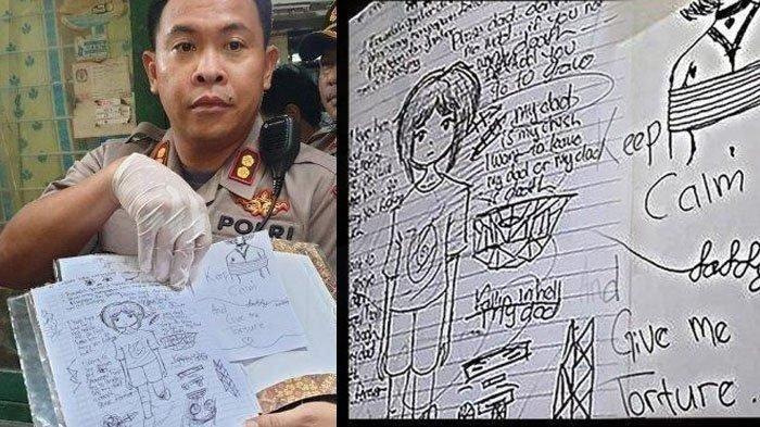 13 Lembar Coret-coretan Siswi SMP yang Bunuh Anak 6 Tahun, Dipenuhi Gambar Wanita Bersedih