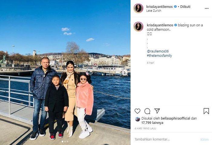 Postingan Krisdayanti yang berlibur ke Swiss di tengah wabah virus corona
