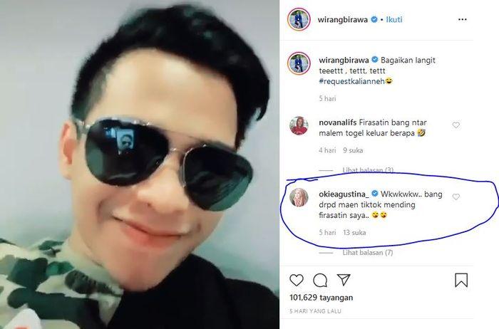 Okie Agustina minta diramal <a href='https://manado.tribunnews.com/tag/wirang-birawa' title='WirangBirawa'>WirangBirawa</a>