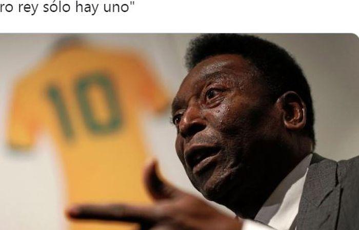 Striker legendaris timnas Brasil, Pele.