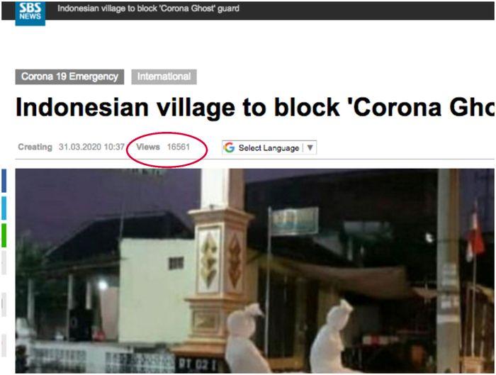 Berita aksi nyamar jadi Pocong demi jaga warga dari virus Corona viral di Korea Selatan